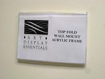 Top Fold Wall Mount Acrylic Frames #TF00