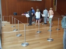 Q-Barriers museum display barriers, museum barriers, museum products, queue management barriers, museum queue control