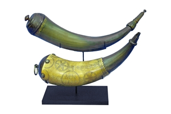 Powder Horn stand, Powder horn, powder horn display,