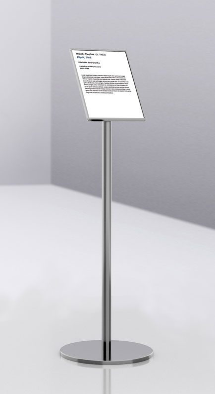 art display info stand