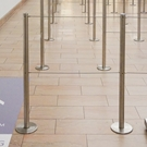 Q-cord Retractable barrier,  Museum guidance, Premium barrier, Magnetic base, Temporary barrier