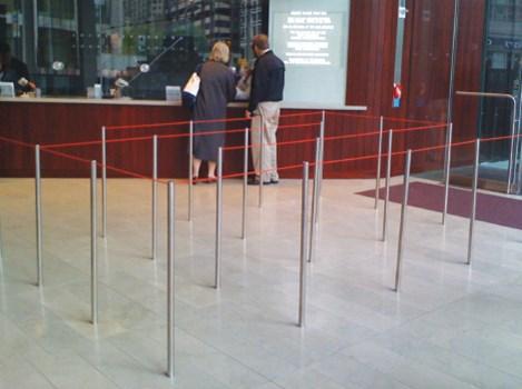 Floor Mounted Q Barriers B50001